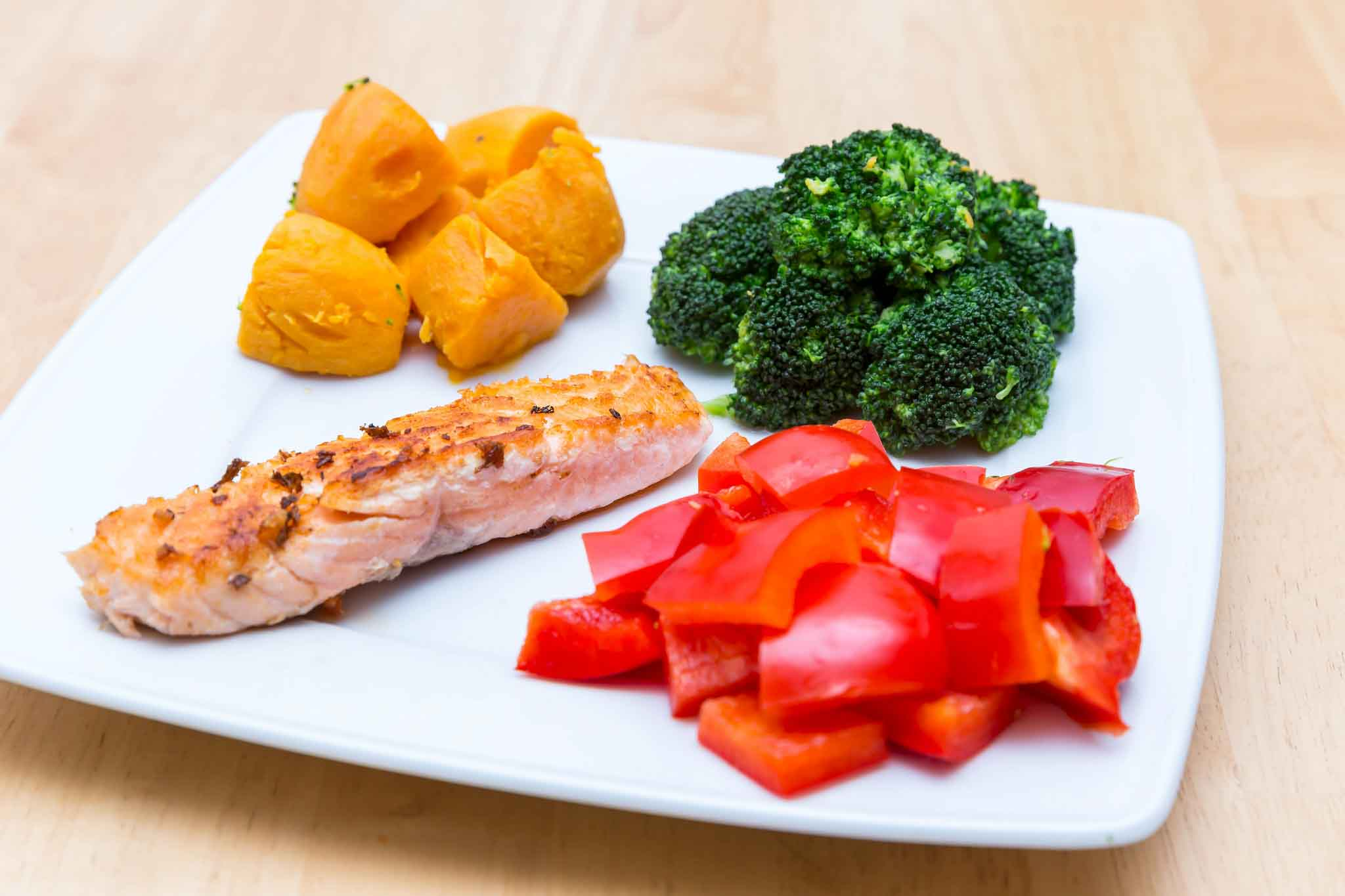 Plato con comida sana