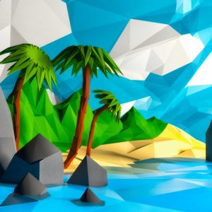 Isla hecha en 3d